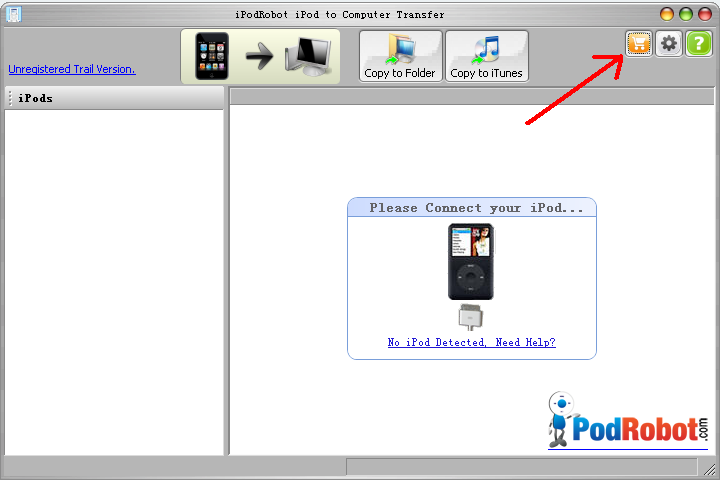 Register iPod to Computer Transfer