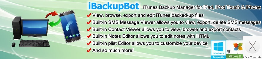 iBackupBot for iTunes iPod & iPhone Backup Manager