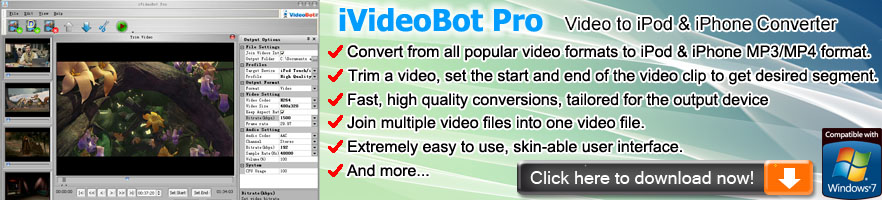 iVideoBot Pro iPod & iPhone Video Converter